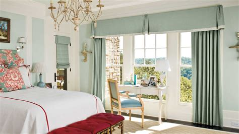 Window Treatments Southern Living | mixed styles bedroom window treatments southern living