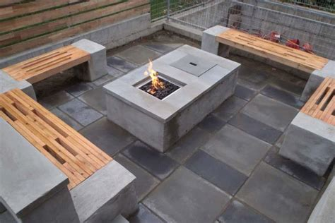 diy firepit table concrete pit diy pit design ideas