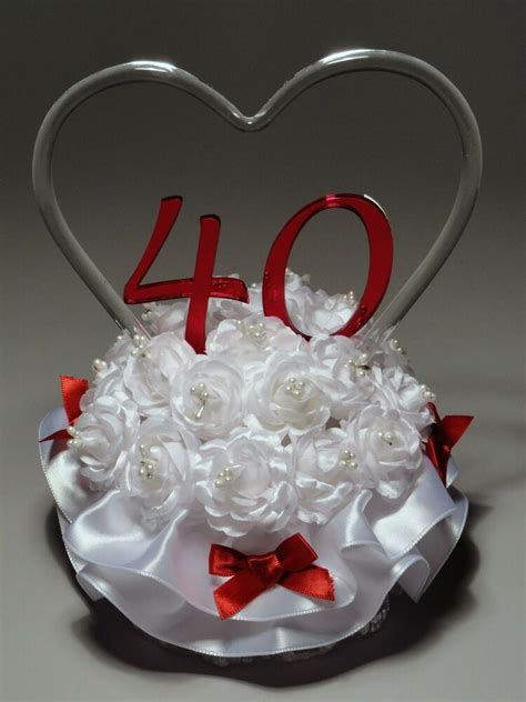 wedding anniversary cake topper   ebay