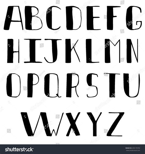 A To Z Search Font Alphabet From A To Z In Caps Stock Vector 299170793