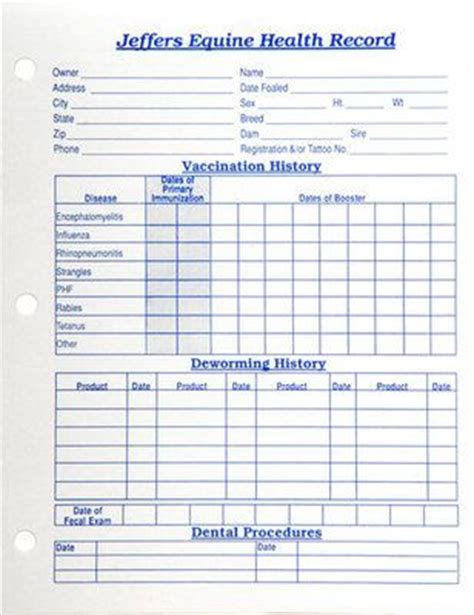 pet health record template health records from jeffers pet handy place to