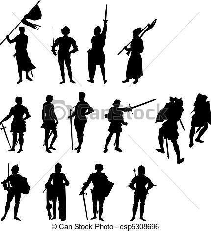 vetor de dois cavaleiros imagens de stock royalty free clip arte vetor de quatorze cavaleiro silhuetas