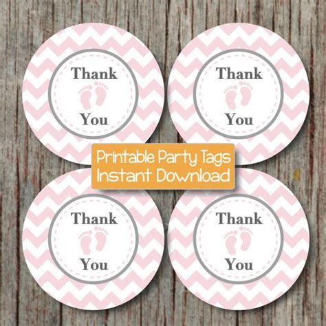 printable thank you tags for baby shower instant download thank you tags baby shower printable party