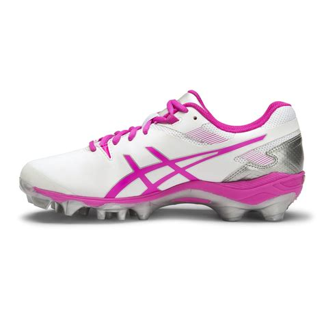 asics gel lethal touch pro 6 womens turf shoes white