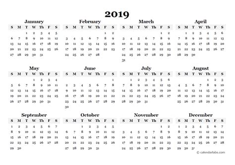 yearly blank calendar template  printable templates