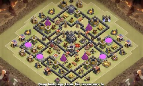 th9 layout strategy th9 war base farming base layouts clash of clans wiki