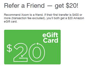 Xoom Gift Card - xoom s refer a friend program