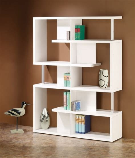 white contemporary bookcase contemporary living room decorating ideas unique wall book