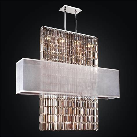 crystal l shade chandelier rectangular shade chandelier rectangular crystal