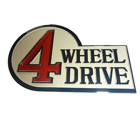Emblem 4 Wheel Drive rear emblem 4 wheel drive suitable for landcruiser 40 series