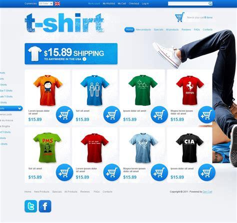 T Shirt Shop Zencart Template Web Design Templates Website Templates Download T Shirt Shop T Shirt Website Template Free