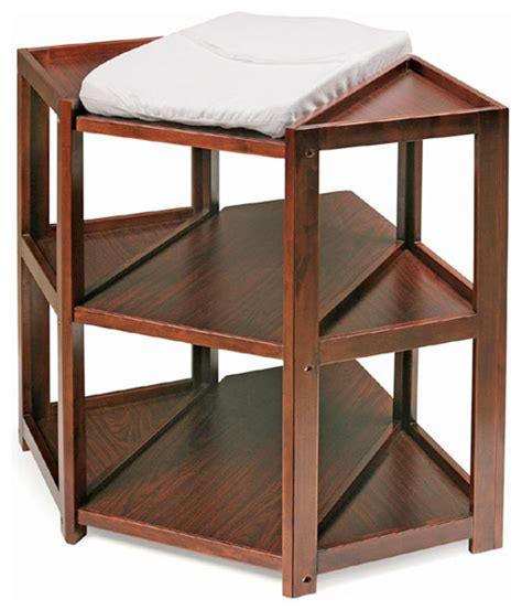 Corner Change Table Cherry Corner Changing Table Modern Baby And
