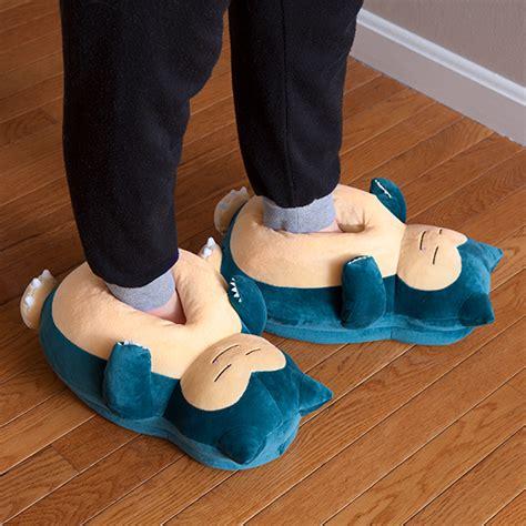 Bedroom Slippers Men pok 233 mon snoring snorlax slippers thinkgeek