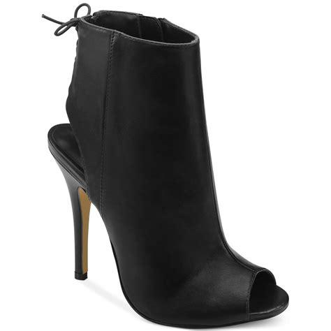 black leather high heel booties laundry jinxy high heel dress booties in black