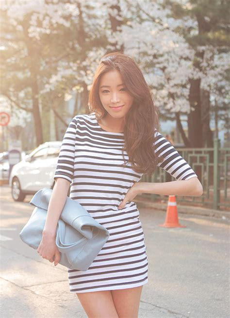 Korean Fashion Impress Bag Broken White Tas Fashion Kore Best Seller stylenanda basic striped dress kstylick korean fashion k pop styles fashion