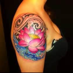Colorful Lotus Tattoos Tatuagens De Flores Flor De L 243 Tus Treze Tatuagens