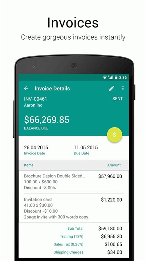 design invoice app zoho invoice and time tracking uplabs