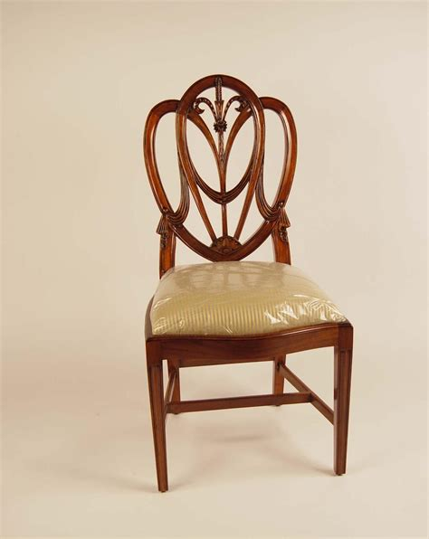 mahogany shield back dining room chairs sweetheart ebay