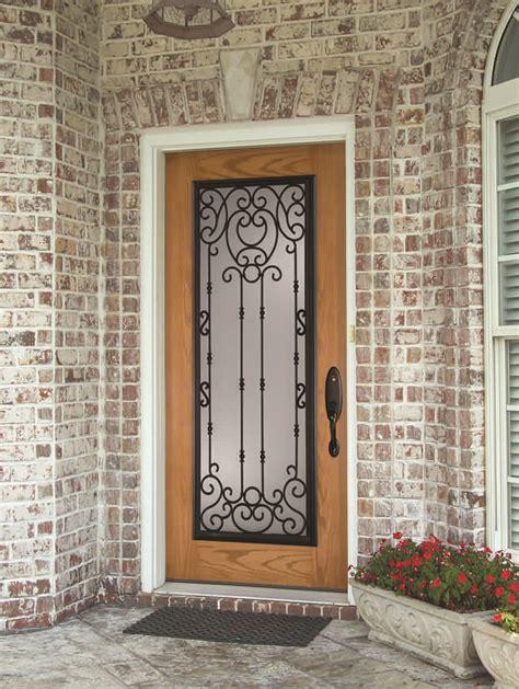 wrought iron  glass front entry door designs zabitat blog