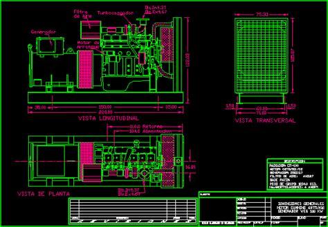 electrical generator  autocad cad   kb