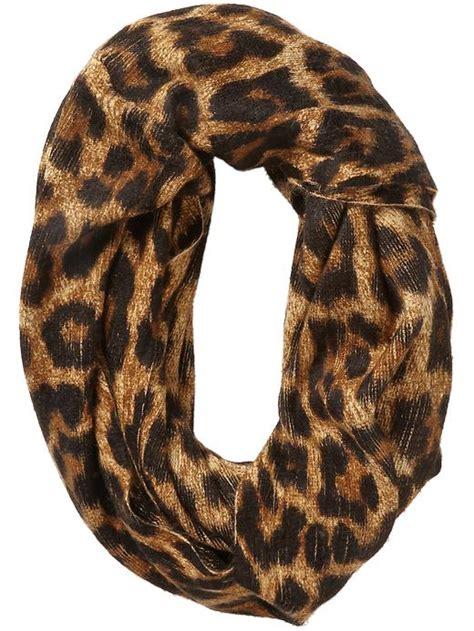michael kors animal print infinity scarf in brown