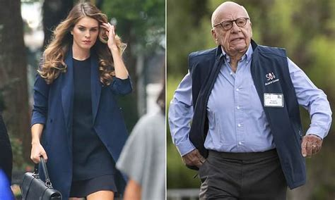 hope hicks going to fox home daily mail online