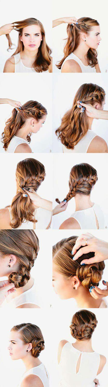 twisted side bun updo hairstyles tutorial popular haircuts 16 easy and quick hairstyles with tutorials pretty designs