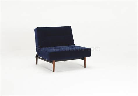 Blue Velvet Sofa Bed by Splitback Sofa Bed In Blue Velvet W Wood Legs By Innovation