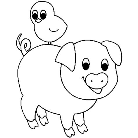 Printable Cute Animal Pig Coloring Pages For Kids Piggy Coloring Pages