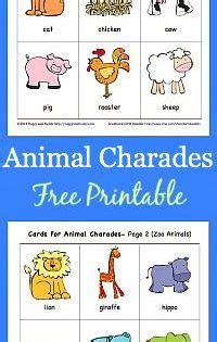 printable animal charades cards animal charades for kids free printable charades game