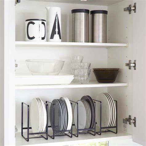 Range assiette noir   rangement vertical vaisselle