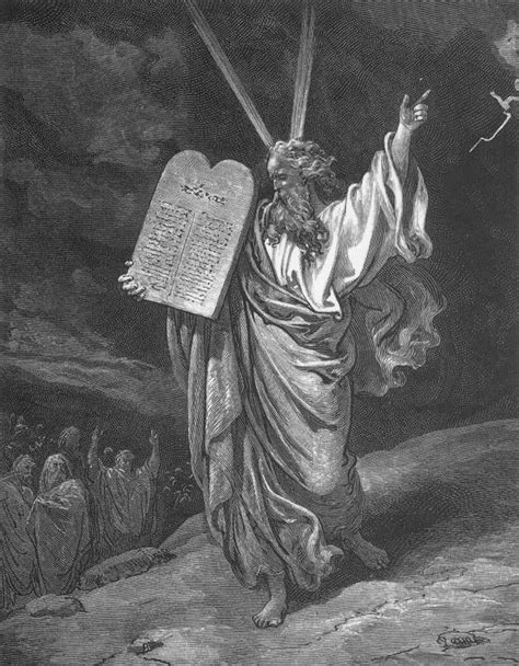 gustave dor 233 moses showing the ten commandments