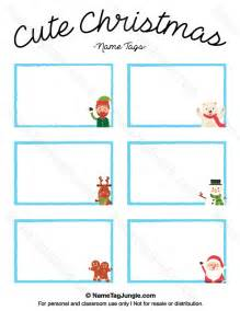 printable cute christmas name tags