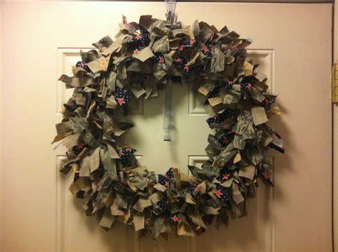rag wreath patriotic rag wreath hoppymamakreations
