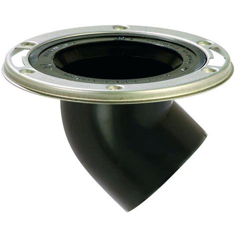 Adjustable Closet Flange by 3 In Black Abs Adjustable Metal Ring 45 Degree Spigot Dwv