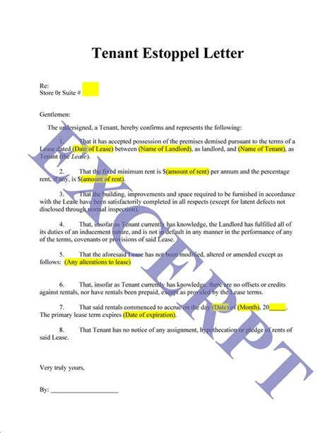 Mortgage Estoppel Letter Free Printable Estoppel Letter Form Generic Free Printable Estoppel Letter Form Generic