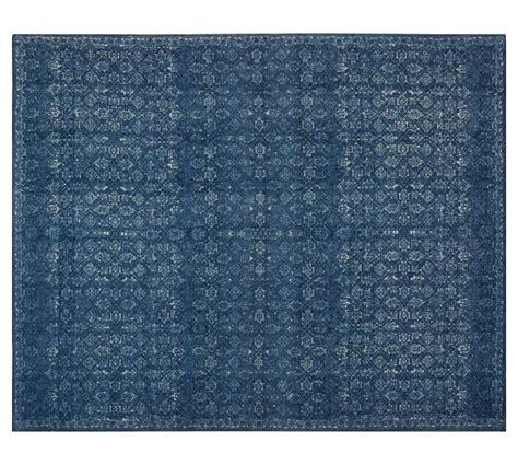 printed rugs kala printed rug midnight pottery barn