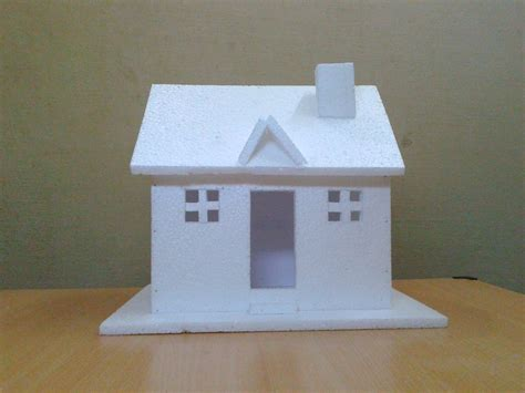 make a home how to make a small thermocol house model craft ideas for
