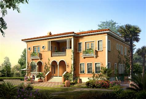 italian villa house plans new home designs latest italian villas designs