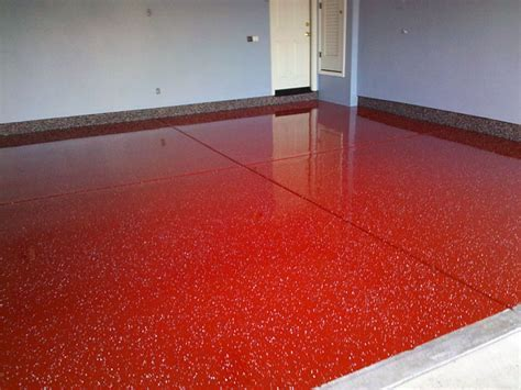 Red Epoxy Flooring Bathroom Extraordinary Epoxy Flooring