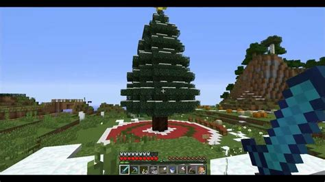 minecraft tutorial how to build a christmas tree youtube