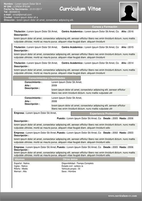 Plantillas De Curriculum Vitae En Word Para Mac formato de resumen curricular para rellenar free resume