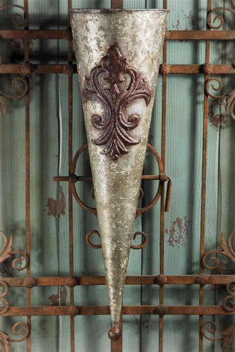 Metal Wall Vase by Wall Vase Metal Flower