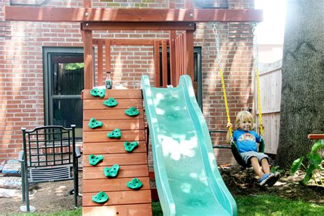 swing set for small backyard sweet small yard swing set solution