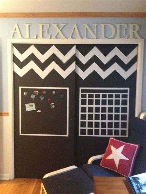 Chalkboard And Magnet Paint Closet Doors Made For My Magnetic Closet Doors
