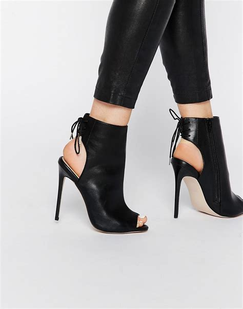 peep toe high heel boots open toe 28 images womens high block