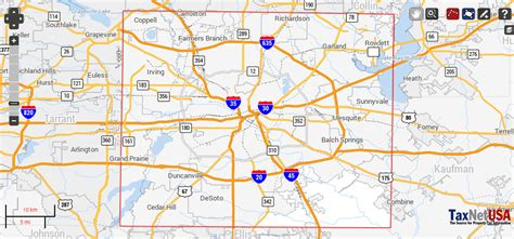 map in texas dallas county texas property search and interactive gis map taxnetusa