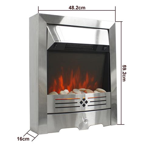 2000w electric fireplace led burning insert