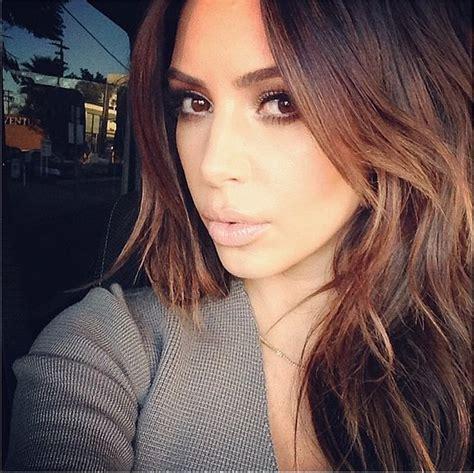 kim kardashian hair color highlights kim kardashian brunette hair 2014 popsugar beauty