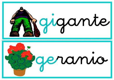 imagenes y palabras con t palabras con ge gi lectoescritura pinterest aprender
